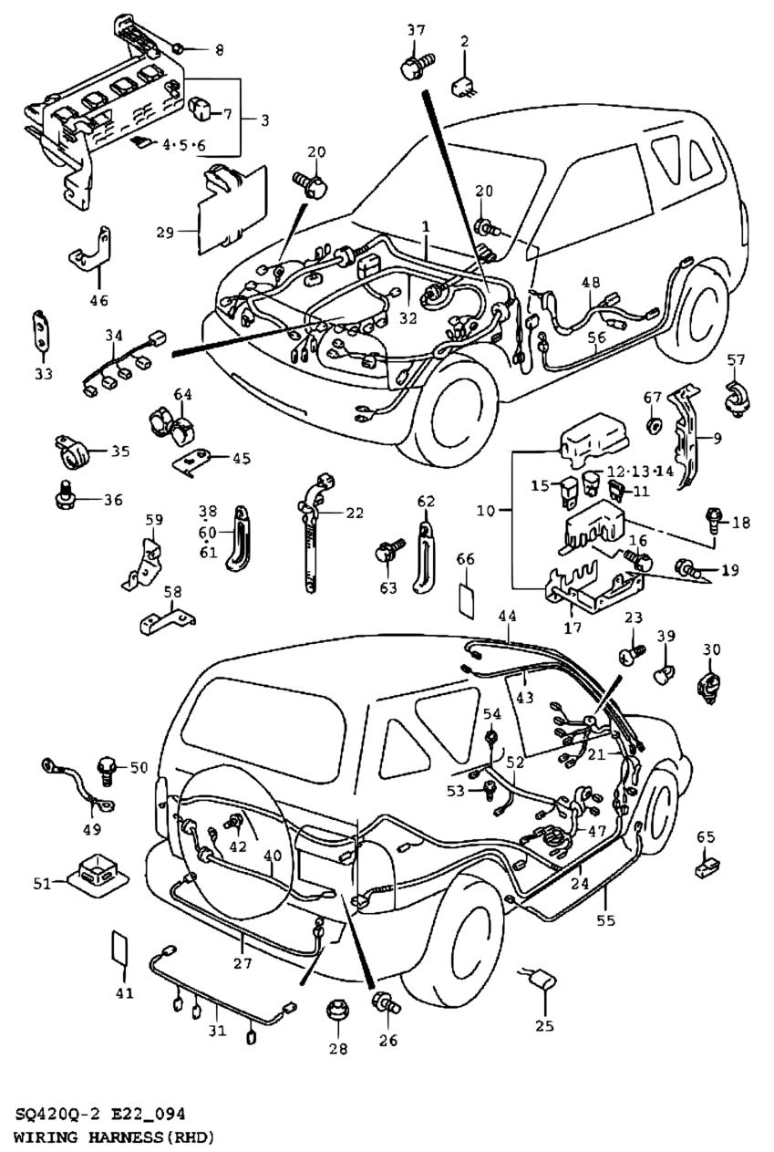 Pacific Grand Vitara Sq416q My01 04cami Electrical 94 Suzuki Wiring Harness Parts