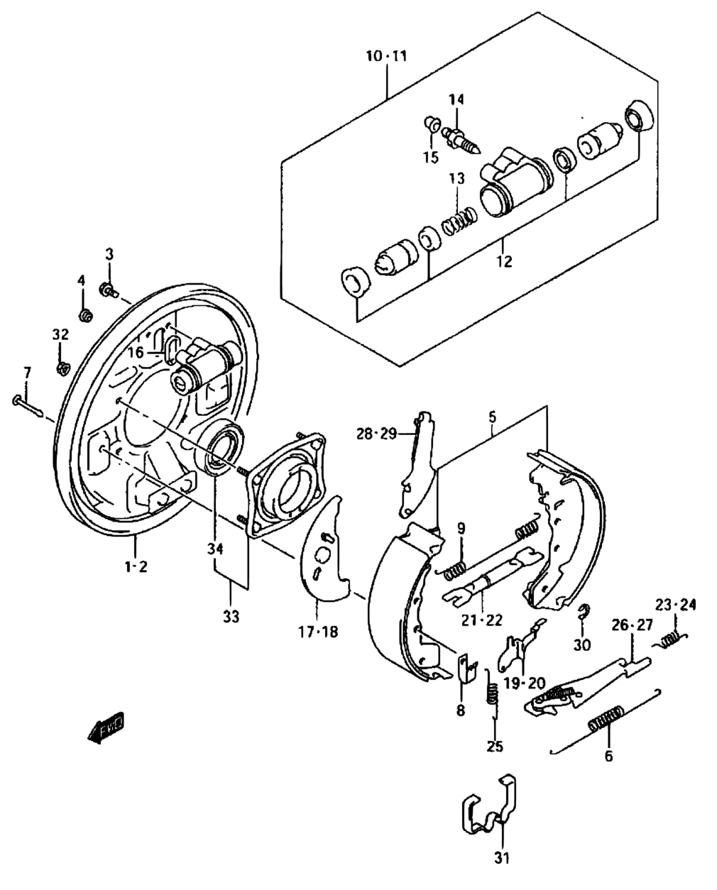 Suzuki Vitara Rear Brake Diagram