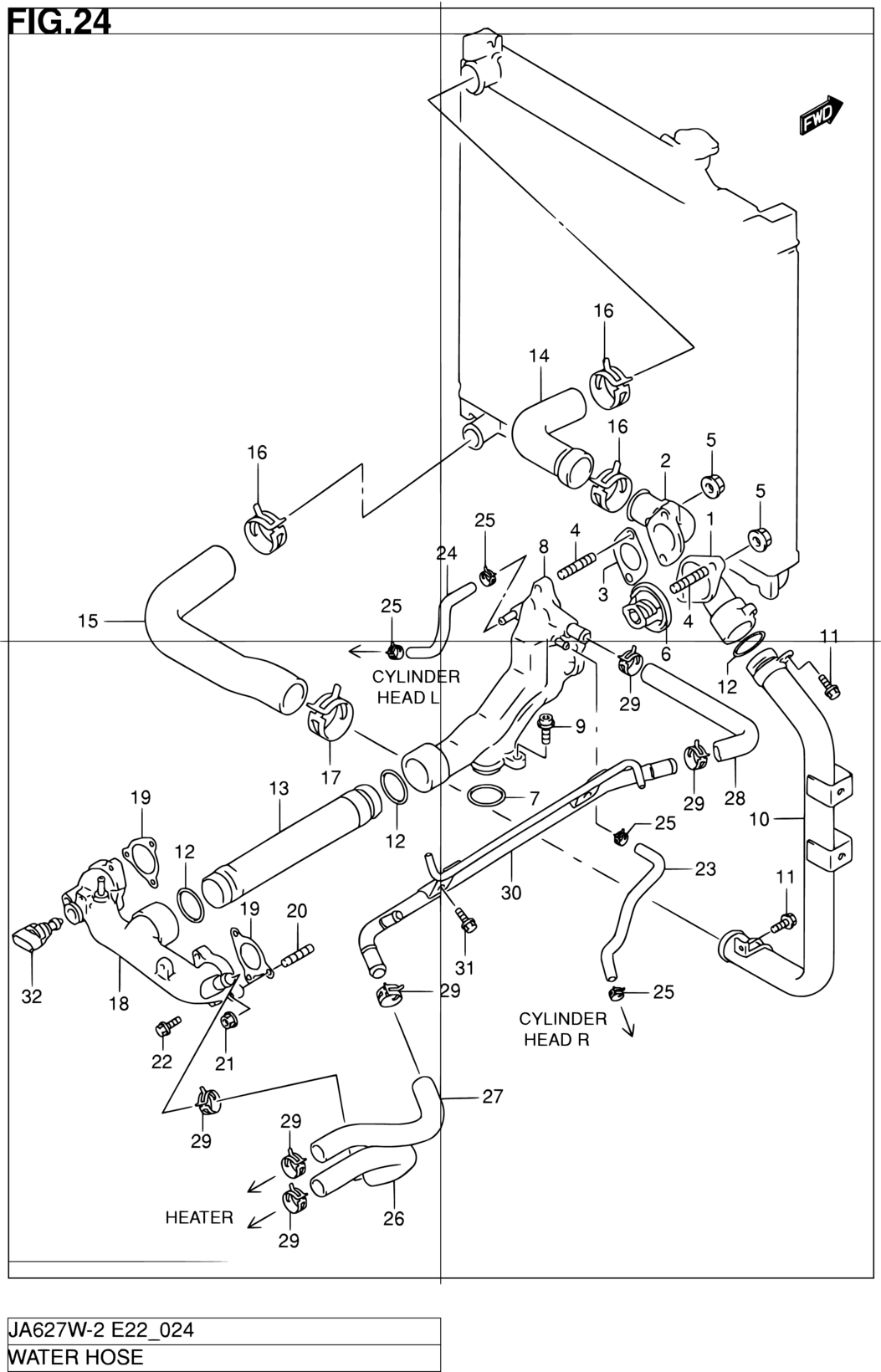 Engine Coolant Pipe O-Ring Mahle C32387