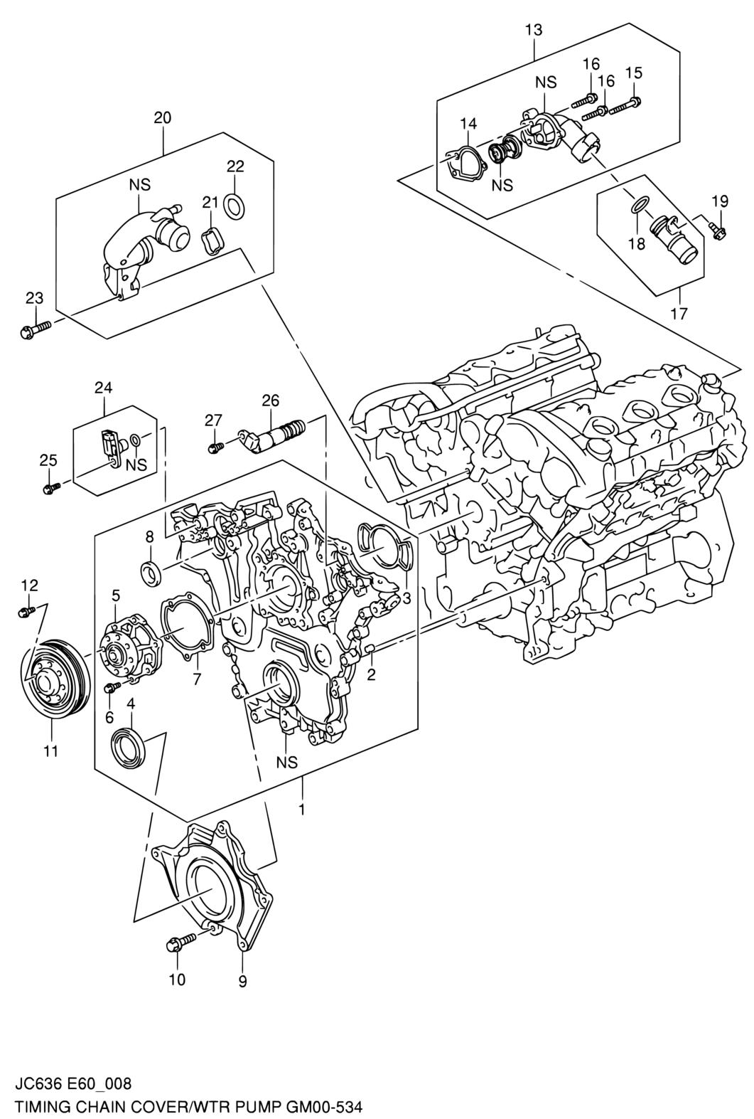 Latin America Grand Vitara Xl7 Jc636 E10e49e60e62e63e71my. Suzuki. 2008 Suzuki Grand Vitara Water Pump Diagram At Scoala.co