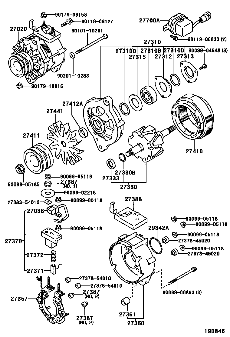 Japan Hilux 671150 Ln106 Trmds 19 03 Alternator Wiring Diagram Name 27020 Assy