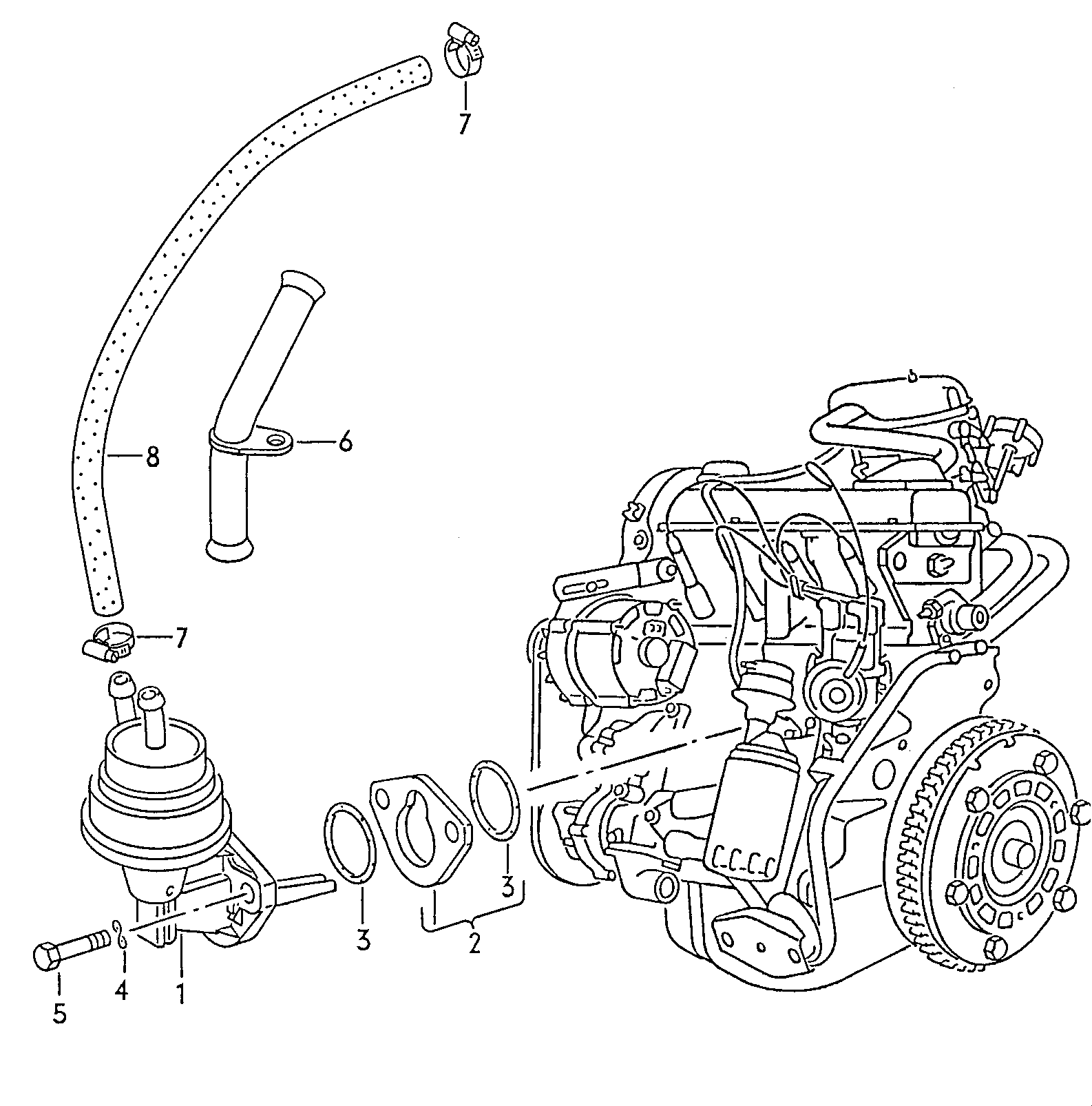 Vw Transporter Europe 1991 Engine 12710 T5 Wiring Diagram 2009 Parts